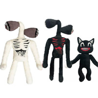 Siren Head Horror Character Black Cat Plush Stuffed Doll Kids Christmas Gift Toy