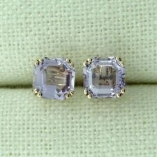 9CT ROSE GOLD AMETHYST SOLITAIRE STUD EARRINGS