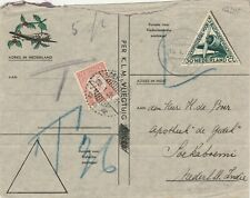 1935 airmail cover to Soekaboemi Netherlands Indies POSTAGE DUE