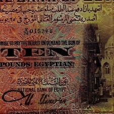 EGYPT National Bank BANKNOTE 10 POUNDS OLD MOSQUE 1943 NIXON I RR PRIFEX  X/79