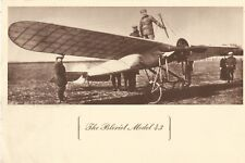 "Bleriot Model 43 French Airplane 9"" x 6"" Well Fargo Bank Ad Postcard 1960s"