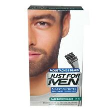JUST FOR MEN MOUSTACHE & BEARD DARK BROWN-BLACK