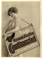 """Continental-Absatz """" Enorm haltbar """" Marken-Werbung von 1913"""