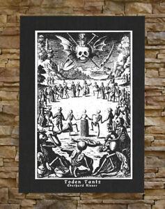 Memento Mori Canvas Print / Back Patch - Danse Macabre Remember Skeleton Occult