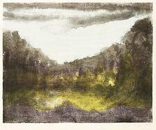 ELLY SCHREITER - Landschaft - Farblithografie 1977