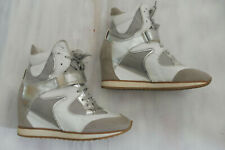 Details zu Damen Sneaker Wedges Zipper Keil Absatz Glitzer Sneakers 811741 Schuhe