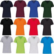 KARIBAN BIO Baumwolle DAMEN T-Shirt V-Ausschnitt OEKO-TEX Organic OCS bis 3XL