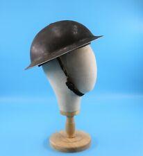 Pre WWII World War 2 Doughboy Metal Helmet Leather Liner Chin Strap