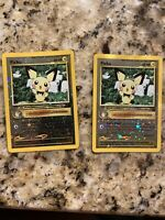 2 PICHU Reverse Holo Black Star PROMO Rare Pokemon Card. Amazing Condition!