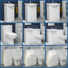 Bathroom Vanity Unit Basin Sink Toilet Bathroom Combined Furniture Suite WC