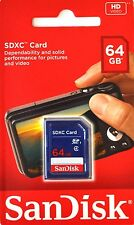 SD Card SanDisk 64GB SDXC DSLR Video Camera Memory Card Genuine