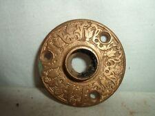 1 Eastlake / Victorian door rosette plate / door knob rosette!!! solid brass