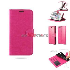 Coque iphone 7 et 8 Portefeuille Housse flip rose Wallet Case PU Leather