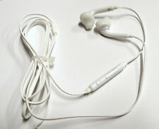 3.5mm Jack White Wired Earbuds W/Mic Headset Earphone Universal - iPhone Samsung