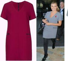 Ladies TOPSHOP Shift Dress Tunic Pocket Vintage Smock Size 8 12 Celebrity Style