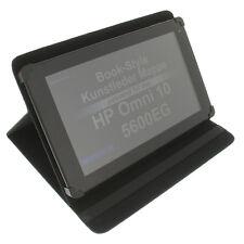 Funda para HP Omni 10 5600eg Book Style Protección Tablet Soporte pie negro