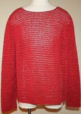 Ralph Lauren Women's Hand Knit Sweater Red Size Petite Small PS