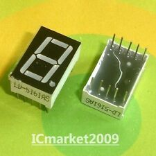10 PCS 0.56 inch RED 7 SEGMENT LED DISPLAY COMMON CATHODE LD-5161AS