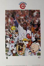 SAMMY SOSA CHICAGO CUBS Looney Tunes Art Lithograph Baseball Warner Bros