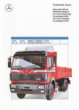 Mercedes 2435 6x2 6x4 24 t Prospekt Technische Daten 7/89 1989 Autoprospekt Lkw