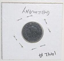 1942 A WORLD WAR II THIRD REICH 1 REICHSPFENNIG COIN