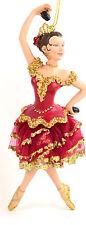 """Nutcracker Ballet Spanish Dancer 6"""" Resin Christmas Ornament NEW"""