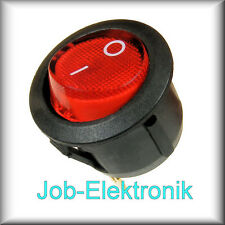 Wippschalter 0-1 1-polig beleuchtet rot Schalter Kippschalter Netzschalter 230V