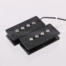 Alnico 5 Magnets P Bass Guitar Bridge Pickup Set 4-String Black