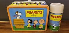 Vintage 1959 Peanuts Lunchbox & Thermos - King Sealy - Amazing Condition!