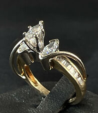 14K 2.09carats Sz 4 3/4! Ladies Marquis Diamond Engagement Ring