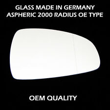 Audi A1 Wing Mirror Glass, Aspheric, Right Hand Side, Fits Reg 05-2010 to 2014