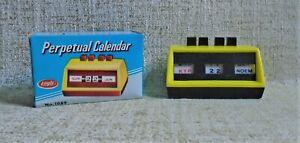 Perpetual Calendar No 1089 NIB Eagle UK Yellow
