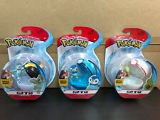 Pokemon Clip N Go - Options: Piplup, Machop and Larvitar - NEW!