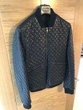 DOLCE & GABBANA QUILTED BLACK LEATHER JACKET RRP £2000