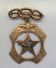 Vintage Odd Fellows 10K Gold Brooch Pin,  Daughters of Rebekah