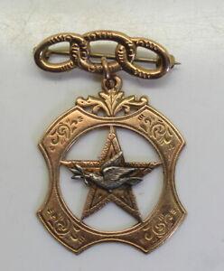 Vintage Odd Fellows 10K Gold Brooch Pin,  Daughters of Rebekah, Not Scrap