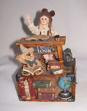 """Nice Vintage Collectible Boyds Bears Music Box """"School"""" Good Used Working Cond."""