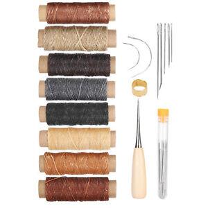 37 Pièces Kit De Couture Cuir Aiguilles Fil Outils De Réparation à Main Ensemble