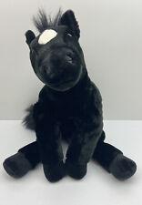 "Kids Preferred Black Horse Plush 26"" Pony Stallion Floppy Large Stuffed Animal"