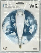 Authentic Official Wii Nunchuck New White Sealed Nunchuk Controller OEM