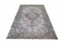 "6' 5""x3'' Vintage OUSHAK  pastel  light blue SKY BLUE Overdyed rug carpet  retro"