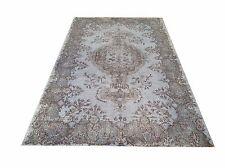 "6' 5""x3'' Vintage OUSHAK  pastel  light blue SKY BLUE Overdyed rug carpet  retro"