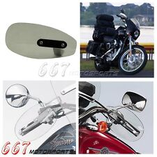 Motorcycle Hand Guards Protector Wind Flow Deflectors Shield For Harley Smoke