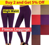 Women Fleece Brush Lined Winter Thermal Ankle Length HIGH WAIST Leggings Jegging