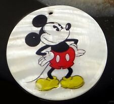 40mm Disney Mickey Mouse Mother Of  Pearl Disc Pendant Bead