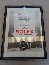 QUADRO CON STAMPA CARBURATORE SOLEX '50S ALFA LANCIA FIAT ALPINE ABARTH MATRA