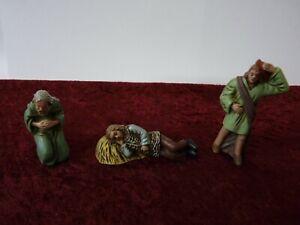 Alte antike Krippenfiguren Kunststoff