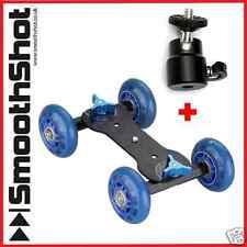 CAMERA DOLLY CAR WHEEL SKATER ROLLER SLIDER TRIPOD HEAD MOUNT FOR DSLR CAMERAS