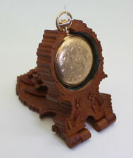 Antique Ornate Hand Carved Pocket Watch Stand Travel BOX Maria Taferl, c.1870