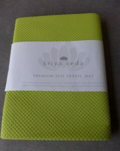 NEW Kirya Veda Premium TPE & Microfiber Yoga Workout Gym Beach Eco Travel Mat